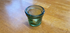 Glass Pot/Candle Holder 7cm