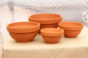 Terracotta Ribbed Bowl - Empty